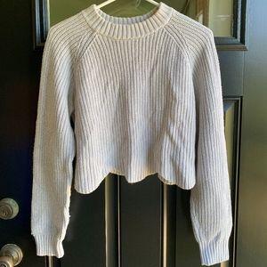 LA Hearts cropped cream sweater S